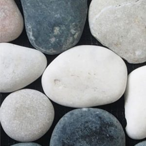 small round white and grey pebbles